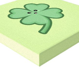 Kawaii Clover Canvas Print
