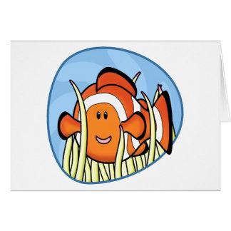 Kawaii Clownfish Card