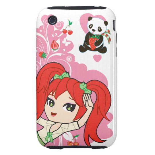 Kawaii Coco the School Girl Chibi Tough iPhone 3 Case