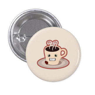 Kawaii Coffee 1 Inch Round Button