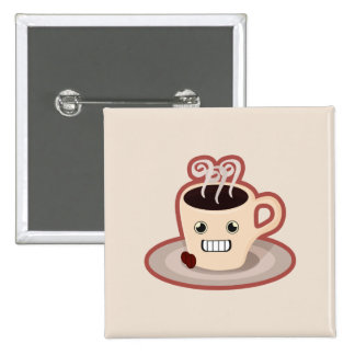 Kawaii Coffee 2 Inch Square Button