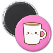 Kawaii Coffee Magnet