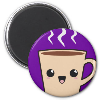 Kawaii Coffee Monster 2 Inch Round Magnet