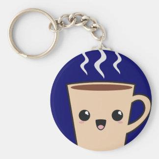 Kawaii Coffee Monster Keychain