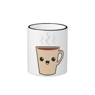 Kawaii Coffee Monster Ringer Coffee Mug