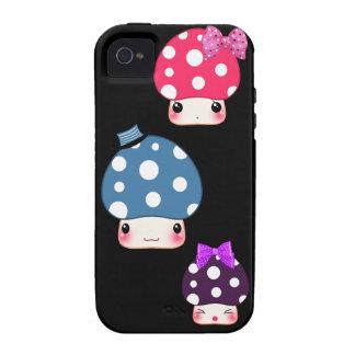 Kawaii colorful mushrooms iPhone 4/4S case