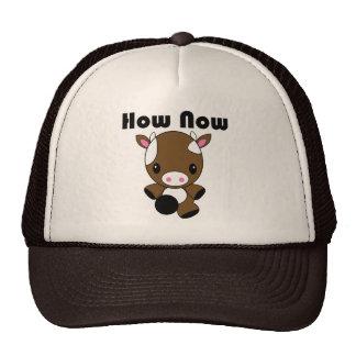Kawaii cómo ahora gorra de la vaca de Brown