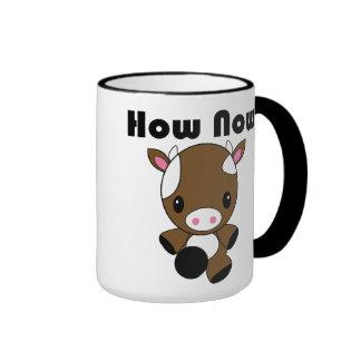 Kawaii cómo ahora taza de la vaca de Brown