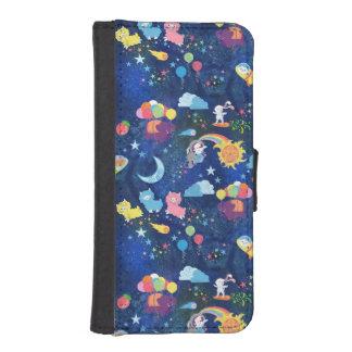 Kawaii cósmico billetera para teléfono