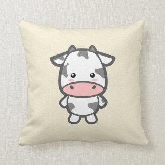 Kawaii Cow Throw Pillow