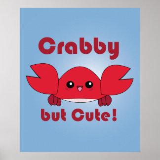 Kawaii Crabby but Cute Posters