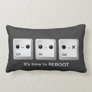 Kawaii Ctrl Alt Del Keyboard - Let's reboot Throw Pillow
