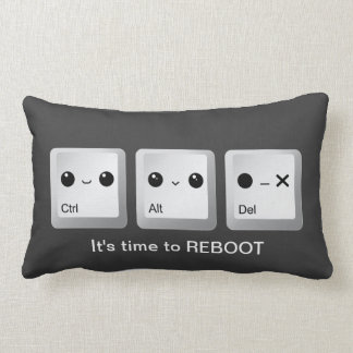 Kawaii Ctrl Alt Del Keyboard - Let's reboot Pillow