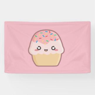 Kawaii cupcake banner