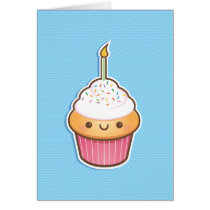 Kawaii Cupcake Card