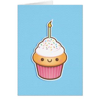 Kawaii Cupcake Card