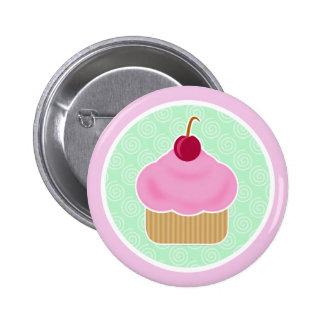 Kawaii Cupcake Cherry Button