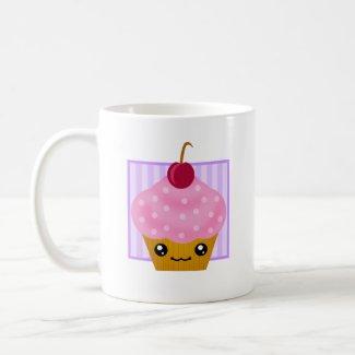 Kawaii Cupcake Cherry Mug mug