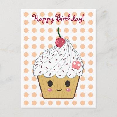 Joyeux anniversaire Créariane ! - Page 2 Kawaii_cupcake_in_polka_dots_happy_birthday_postcard-p239064854587333330baanr_400