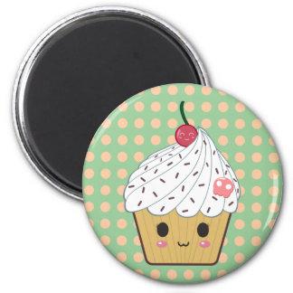 Kawaii Cupcake in Polka Dots Magnets