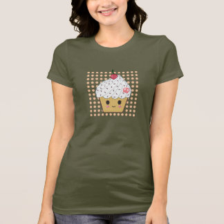 Kawaii Cupcake in Polka Dots T-Shirt