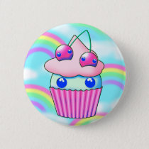 kawaii cupcake with pink körsbär button