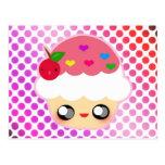 Kawaii Cupcake Postcard