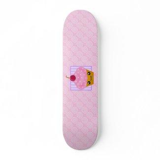 Kawaii Cupcake Skateboard Deck skateboard