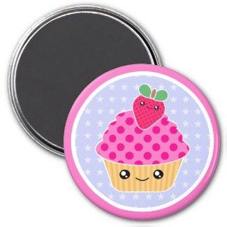 Kawaii Cupcake Strawberry Magnet magnet