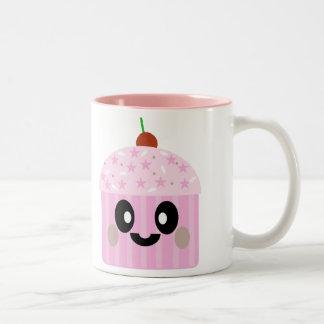 KAWAII CUPCAKE SWEET DELICIOUS DESSERT YUM Two-Tone COFFEE MUG