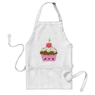 Kawaii Cupcake with Cherry on Top Aprons