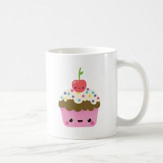 Kawaii Cupcake with Cherry on Top Classic White Coffee Mug