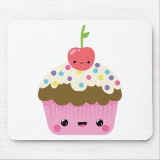 Kawaii Cupcake with Cherry on Top Mouse Pad