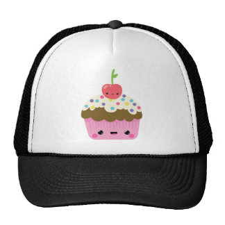Kawaii Cupcake with Cherry on Top Trucker Hat