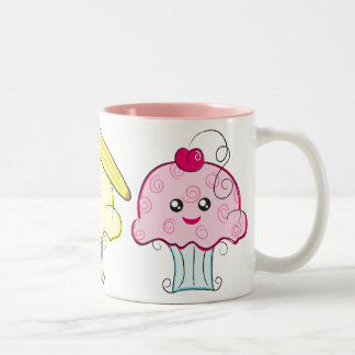 Kawaii Cupcakes Two-Tone Coffee Mug