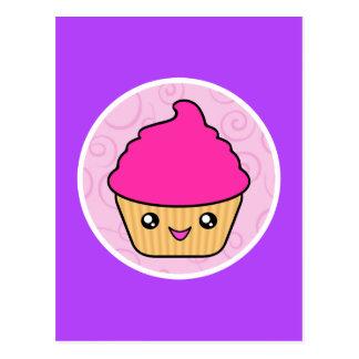 Kawaii Cuppy Cake Pink Cupcake Postcard