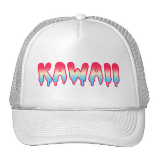 Kawaii Cute Adorable Melty Melting Ombre Pastel Trucker Hat