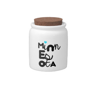 Kawaii Cute Adorable Minnesota State Typography Candy Dishes