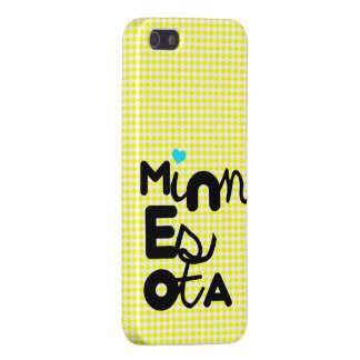 Kawaii Cute Adorable Minnesota State Typography Case For iPhone SE/5/5s