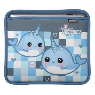 Kawaii cute baby narwhals iPad sleeve