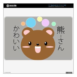 "Kawaii/Cute Bear- 11"" MacBook Air Skin"