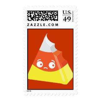 Kawaii Cute Bitten Candy Corn Postage Stamp