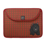 Kawaii Cute Black Scottish Terrier Puppy Dog Sleeves For MacBook Pro
