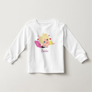 Kawaii Cute Blond Love Chat Toddler T-shirt