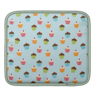 Kawaii cute blue girly cupcake cupcakes pattern iPad sleeve