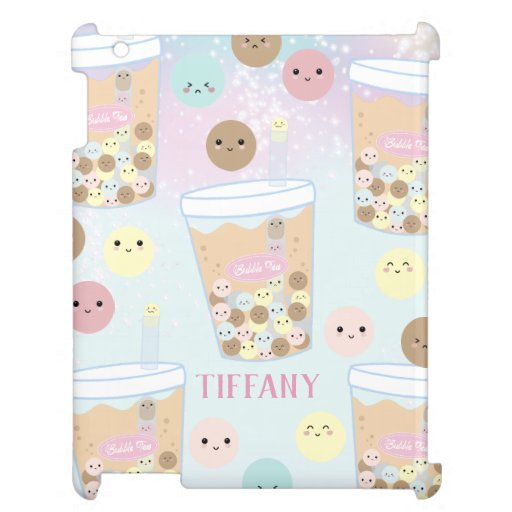 Kawaii Cute Bubble Milk Tea Pastel Rainbow Chic Case For The iPad