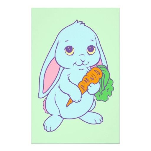 Kawaii Cute Cartoon Bunny Rabbit Carrot Customized Stationery