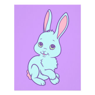 Kawaii Cute Cartoon Bunny Rabbit Letterhead