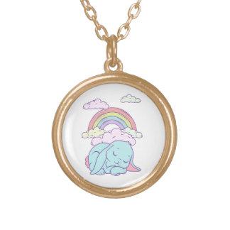 Kawaii Cute Cartoon Bunny Rabbit Rainbow Custom Necklace