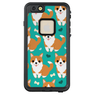Kawaii Cute Corgi dog simple illustration pattern LifeProof® FRĒ® iPhone 6/6s Plus Case
